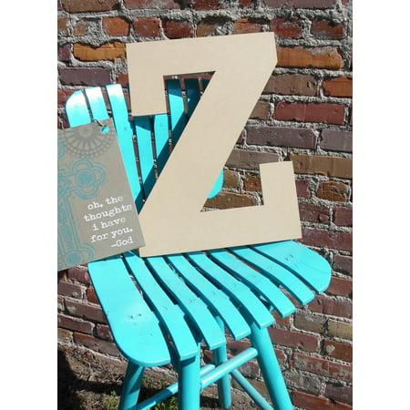 Craft Wooden Letter 6'' Z, Unfinished Wood Wall Letter, Rockwell](Letter Z Crafts)