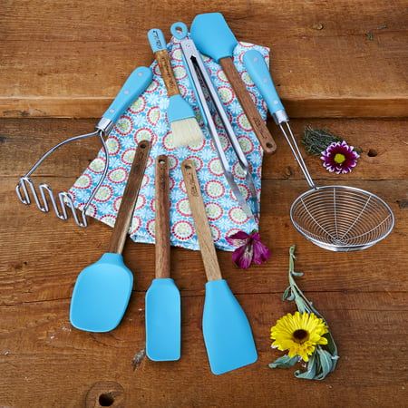 The Pioneer Woman, Frontier Collection 8-Piece Kitchen Tool and Utensil Set, (Collective Tools Utensil)