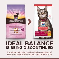 Hill's Ideal Balance Adult Natural Chicken & Brown Rice Dry Cat Food, 15 lb bag
