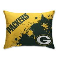 Green Bay Packers Splatter Plush Bed Pillow - Green - No Size