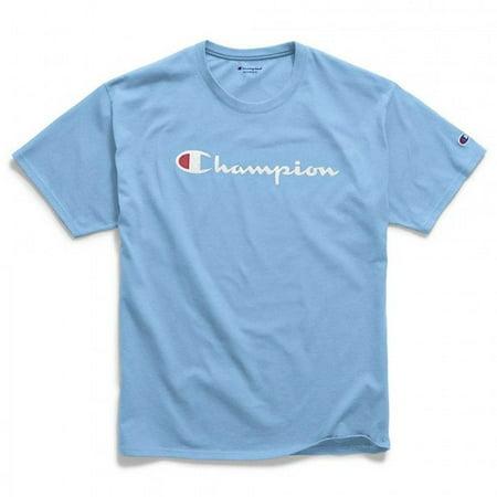 Champion Mens Jersey Script Logo - Champion Mens Cotton Jersey Tank