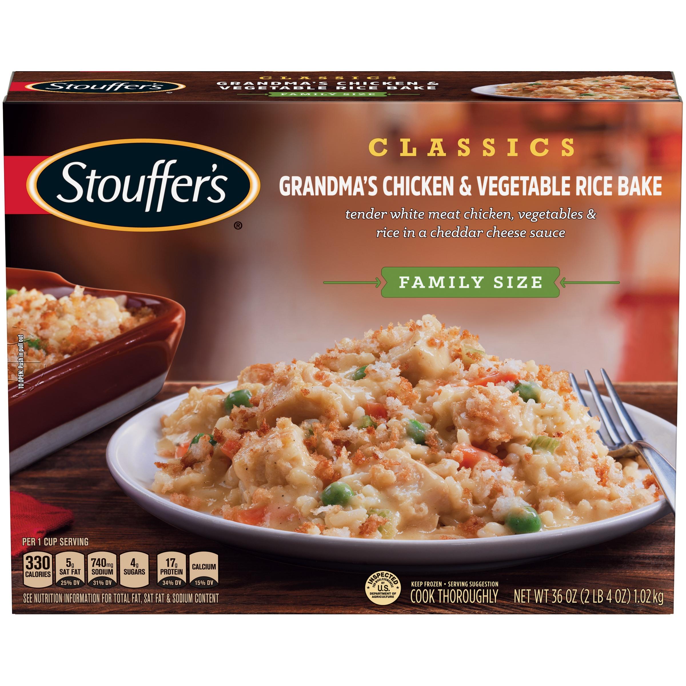 STOUFFER'S CLASSICS Family Size Grandma's Chicken & Vegetable Rice Bake 36 oz. Box