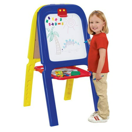 Crayola 3-in-1 Magnetic Double Easel with Letters and (Double Adjustable Easel)