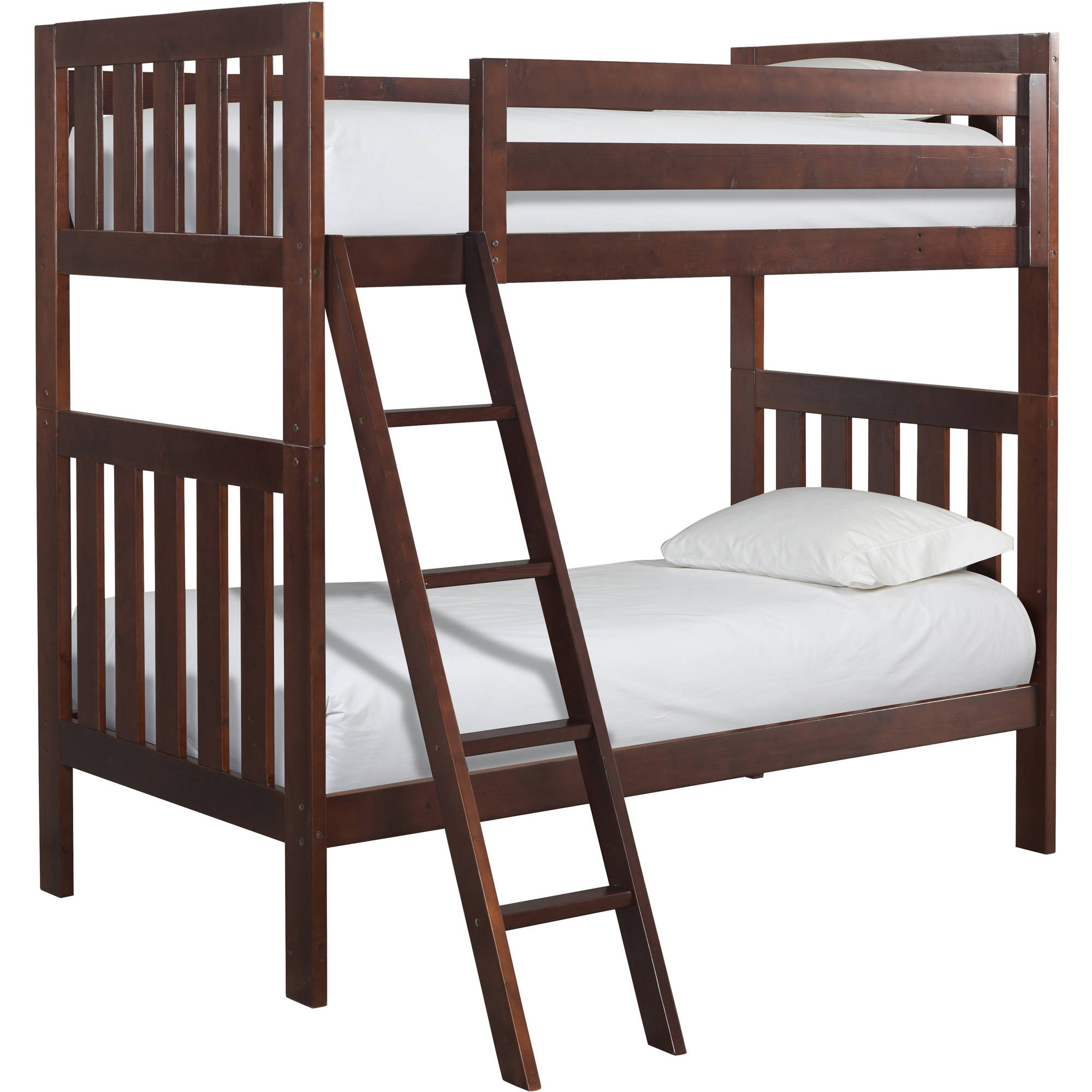 Canwood Lakecrest Twin Over Twin Bunk Bed, Cherry