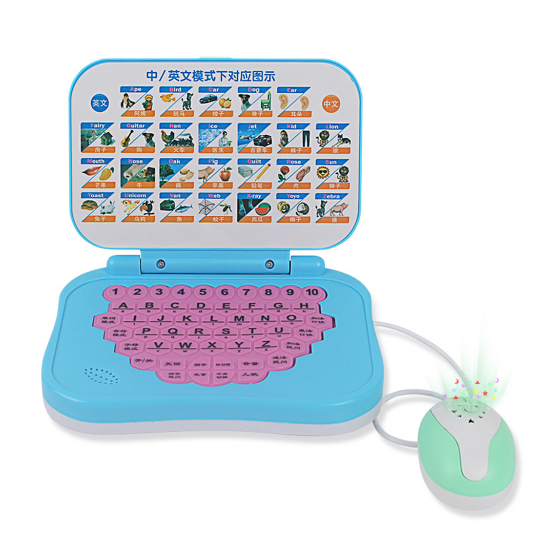 Learning Laptop, Justdolife Interactive Chinese English Preschool Early Education Toy... by Justdolife