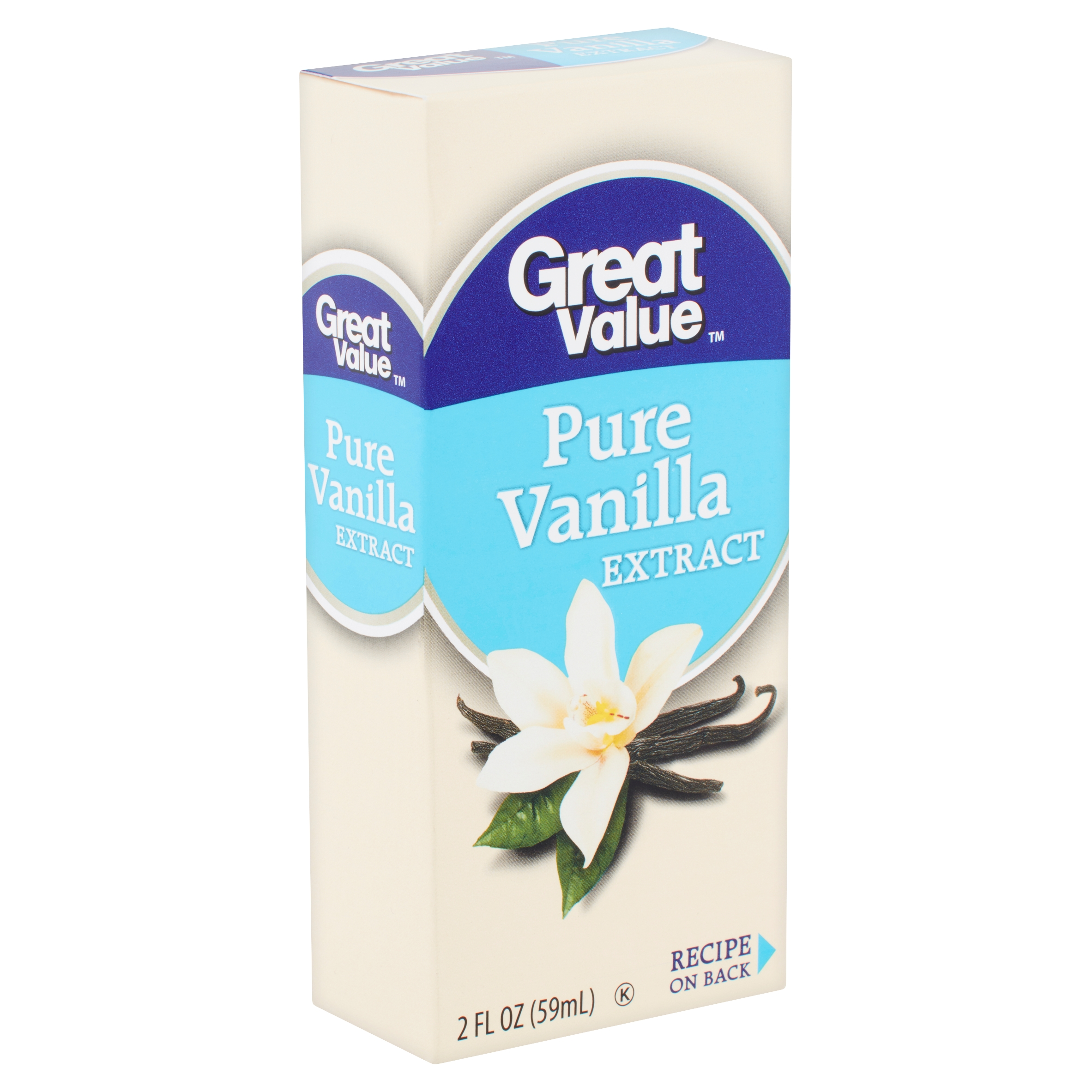 Great Value Pure Vanilla Extract, 2 fl oz