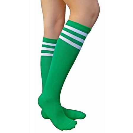 2d43b18ab AM Landen - AM Landen Women's Casual Stripe Knee High Socks Girls socks (Knee  High-Green/White) - Walmart.com