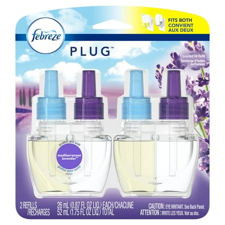 Scent Refill - Febreze Plug Air Freshener Scented Oil Refill, Mediterraenan Lavender, 2 Count