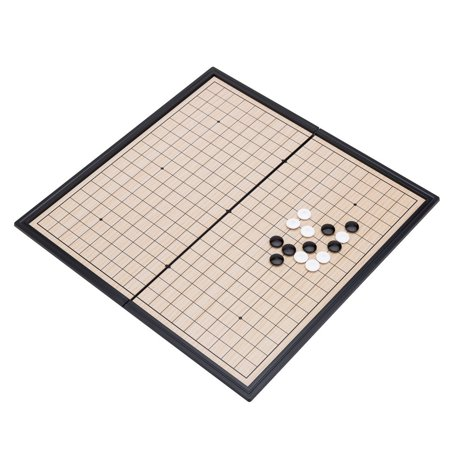 - THY COLLECTIBLES Magnetic Go Game Set with Single Convex Plastic Stones and Go Board, Portable WEI QI 10