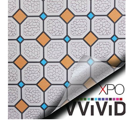 Colored Tile Diamond Mosaic Privacy Window Decal Contact Paper Sticker Decorative Film Wrap VViViD - Choose Your