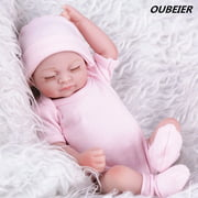 """OUBEIER 11"""" Reborn Baby Dolls Full Body Handmade Realistic Silicone Vinyl Doll Gifts,for Ages 3+ """"Pink Girl"""""""