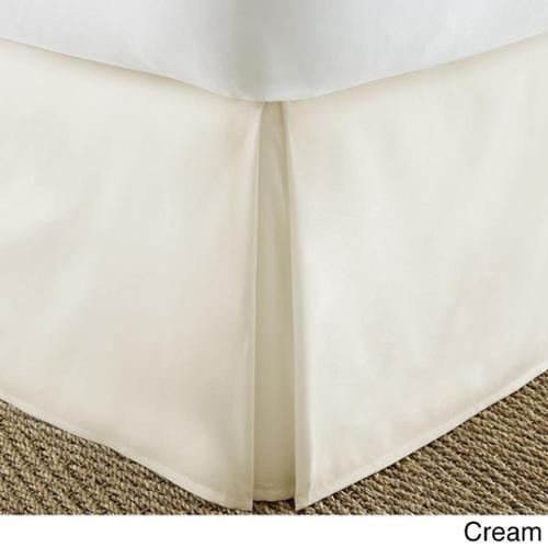 Soft Essentials Premium Pleated Bedskirt Dust Ruffle California King - Cream