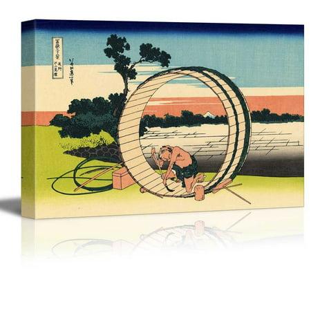 Katsushika Hokusai Mount (Wall26 -Fuji viewed from rice fields in Owari Province from Thirty-six Views of Mount Fuji by Katsushika Hokusai -12
