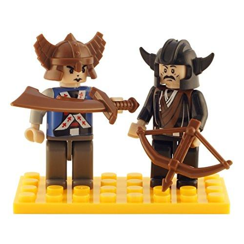 Brictek 2 Piece Viking Figure Set Multi-Colored
