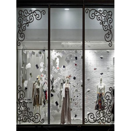 4Pcs DIY Wall Decal Decor Window Bath Room Mirror Art Sticker Removable - Halloween Window Decals Diy