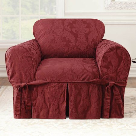 Sure Fit Matelasse Damask Chair Cover
