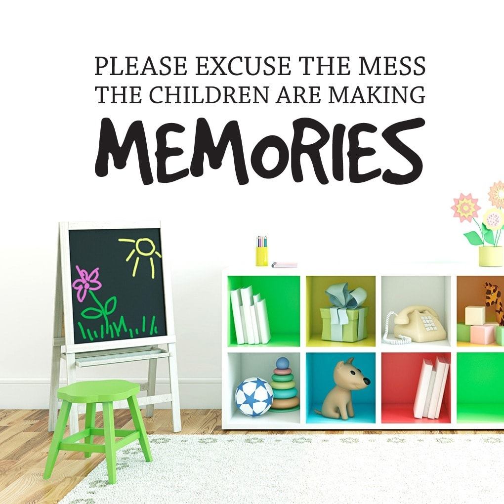 Sweetums Children Making Memories Wall Decal (36-inch x 14-inch)