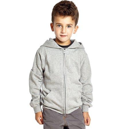 Leveret Boys Girls Cotton Hoodie Light Grey 4 Years ()