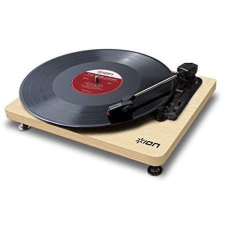 ION Audio Compact LP | Space-Efficient 3-Speed USB Conversion Turntable (Wood-Grain