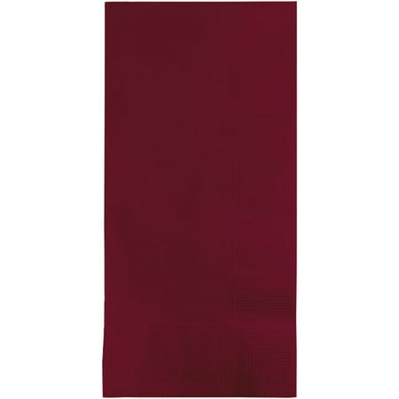 Touch of Color Dinner Napkins, 2-Ply, 1/8 Fold, Burgundy, 50 Ct