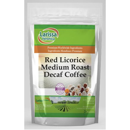Red Licorice Medium Roast Decaf Coffee (Gourmet, Naturally Flavored, Whole Coffee Beans) (4 oz, ZIN: 557060) - 2-Pack