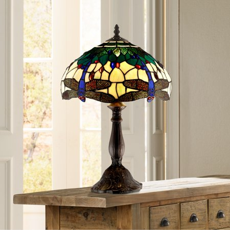 Dark Brown Table Lamp (Robert Louis Tiffany Traditional Accent Table Lamp 18