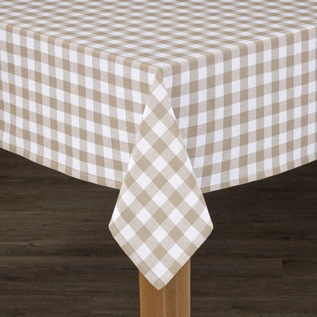 Conventry Sand Buffalo Check 100% Cotton Tablecloth 52
