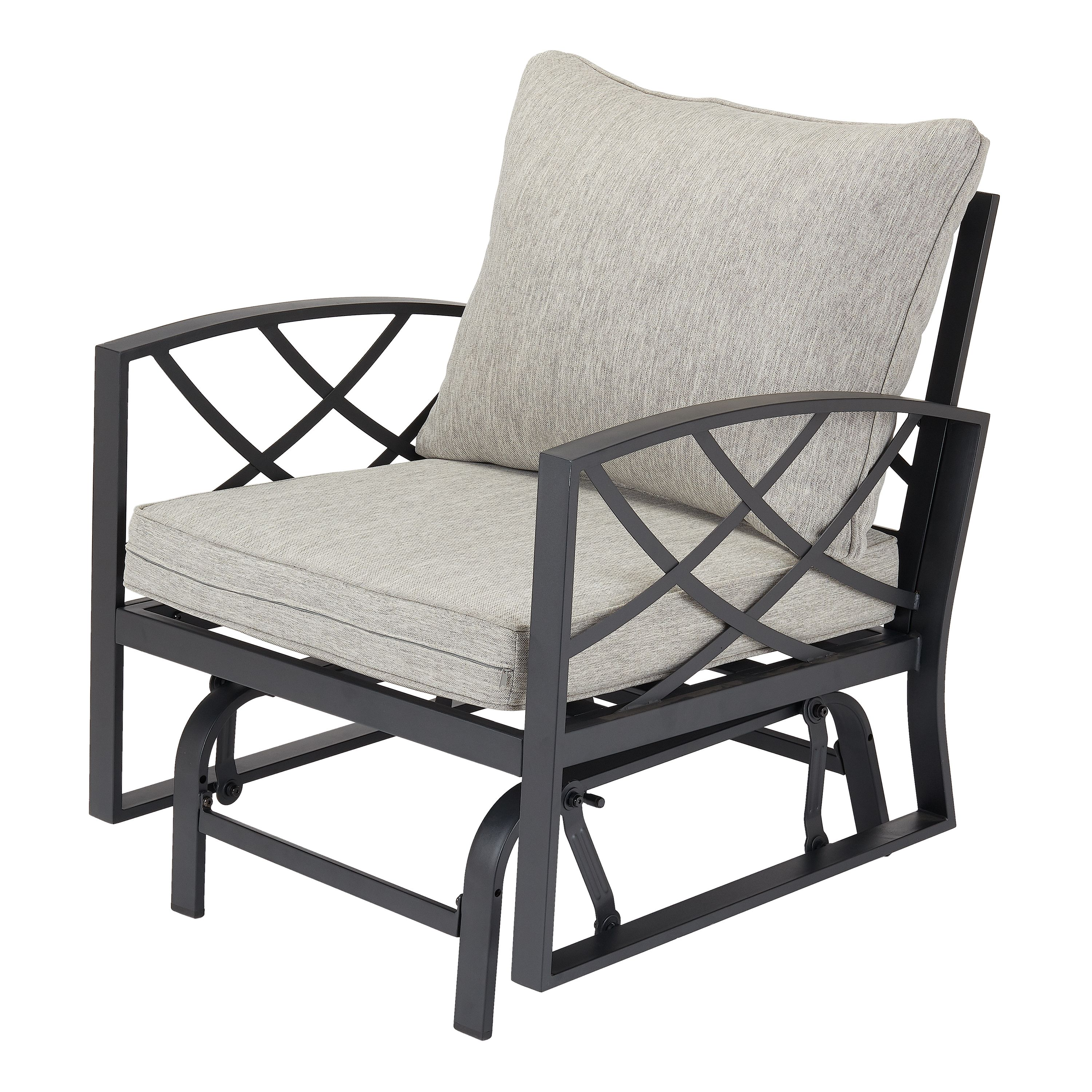 Better Homes & Gardens Bay Ridge Glider Chair with Gray Cushions