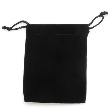 Black Velvet Drawstring Bag (Black Velvet Drawstring Gift Bags 3 X 4 (12))