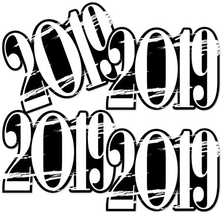 Black White Grad Best Is Yet To Come 2019 Decorations Diy Black And White Graduation Party Essentials Set Of 20