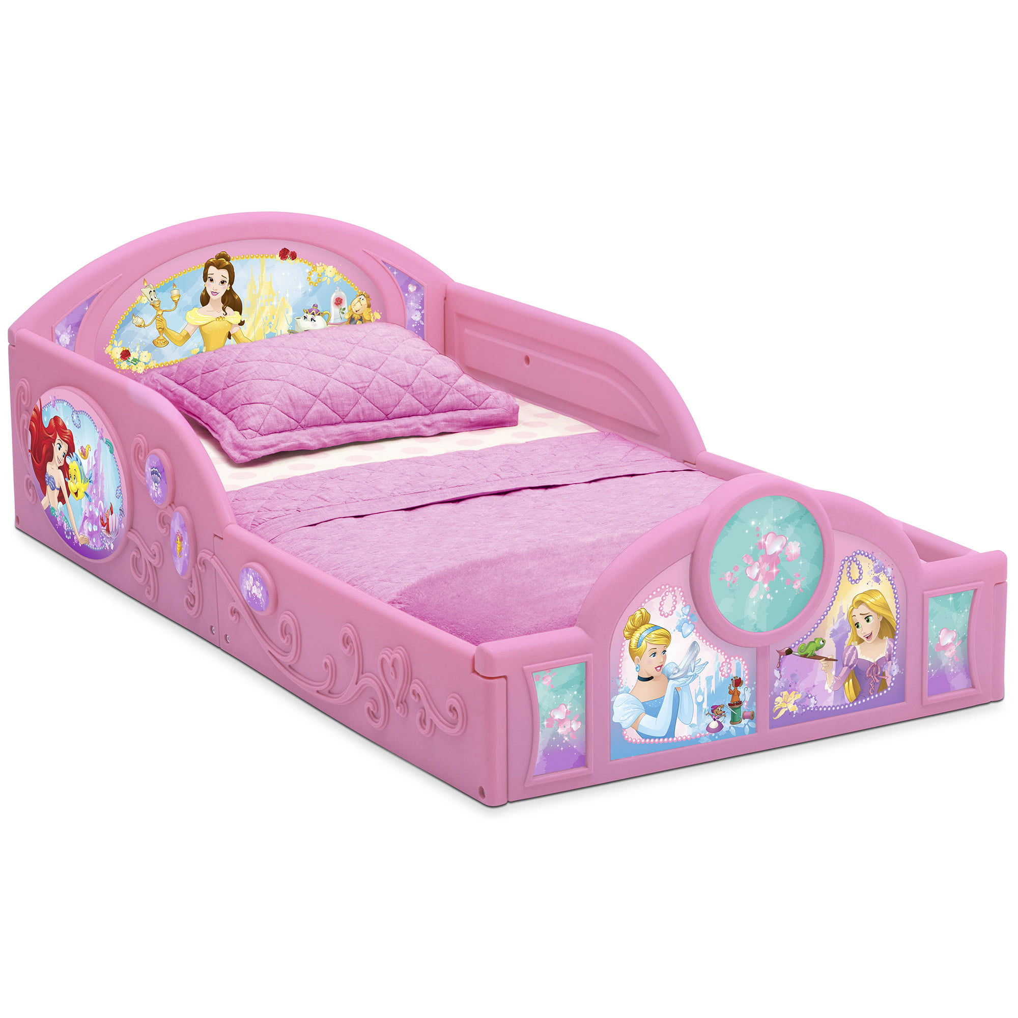 Picture of: Disney Princess Plastic Sleep And Play Toddler Bed By Delta Children Walmart Com Walmart Com
