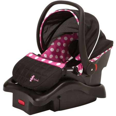 Disney Baby Light 'n Comfy 22 Luxe Infant Car Seat, Minnie (Best Infant Car Seat For Small Cars)
