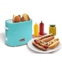 Elite Cuisine ECT-542BL Americana 2-Slice Hot Dog & Bun Toaster - Blue