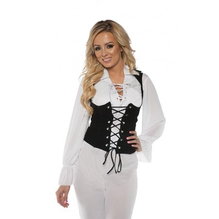 Pirate Shirt Lace Front Adult - Pirate Costume Skirt