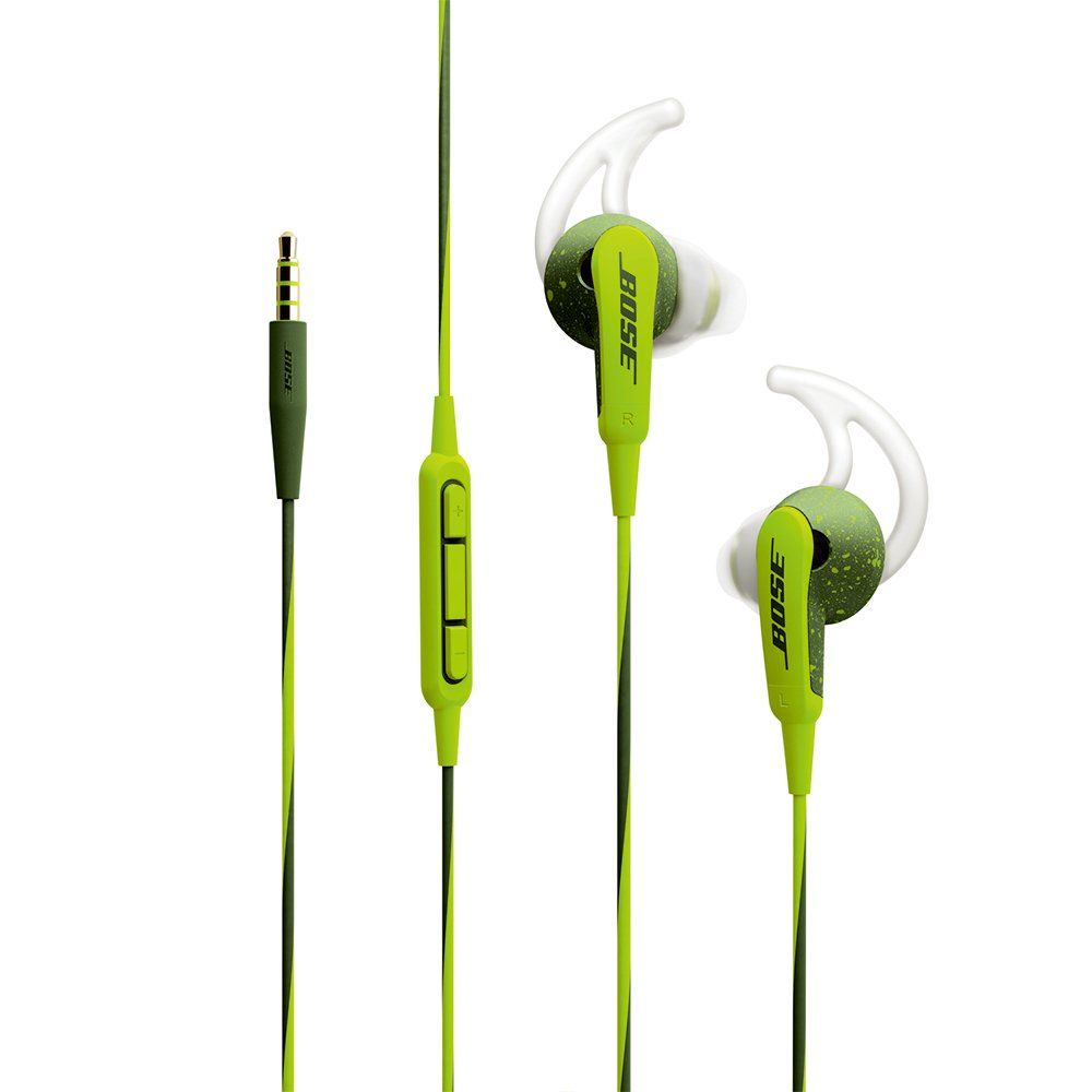 Bose SoundSport Wired In-Ear Headphones (iOS)- Green