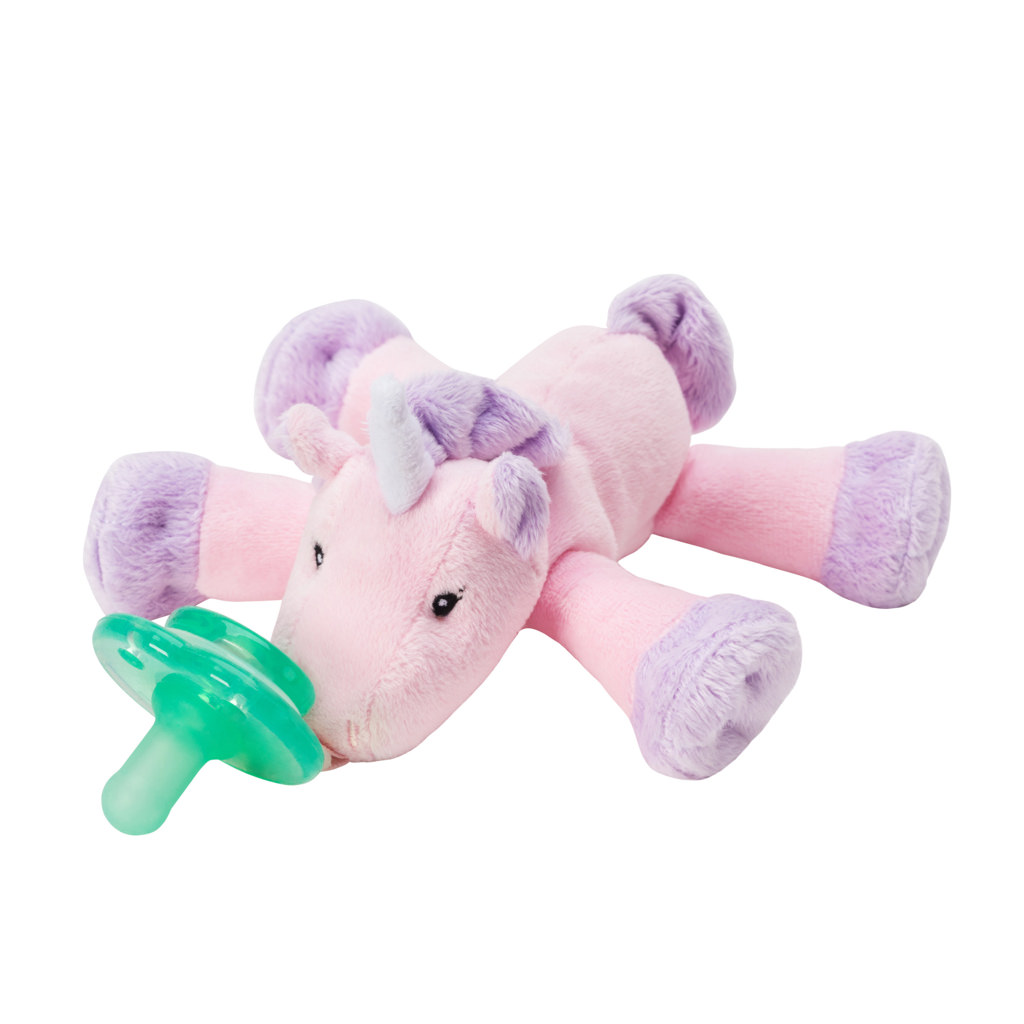 Nookums Paci-Plushies Shakies Unicorn Pacifier Holder and Rattle (2 in 1 ) by Nookums