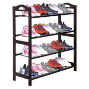 UBesGoo 4 Tier Natural Wood Bamboo Shelf Entryway Storage Shoe Rack Home Furniture