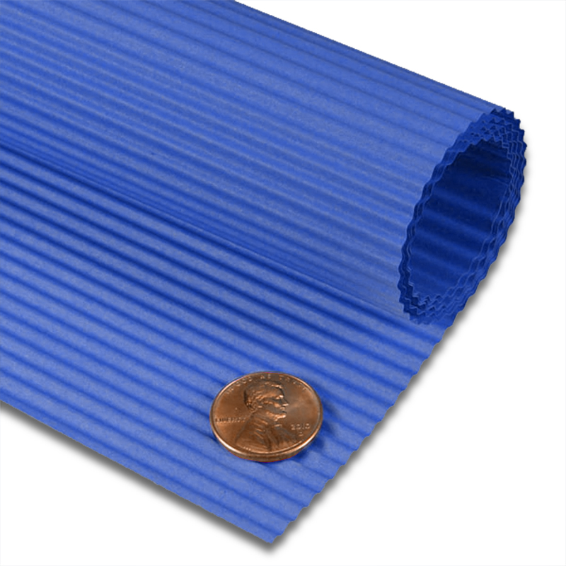 """Royal Blue Corrugated Paper Sheet 19 5/8"""" X 27 1/2""""   Quantity: 10 by Paper Mart"""