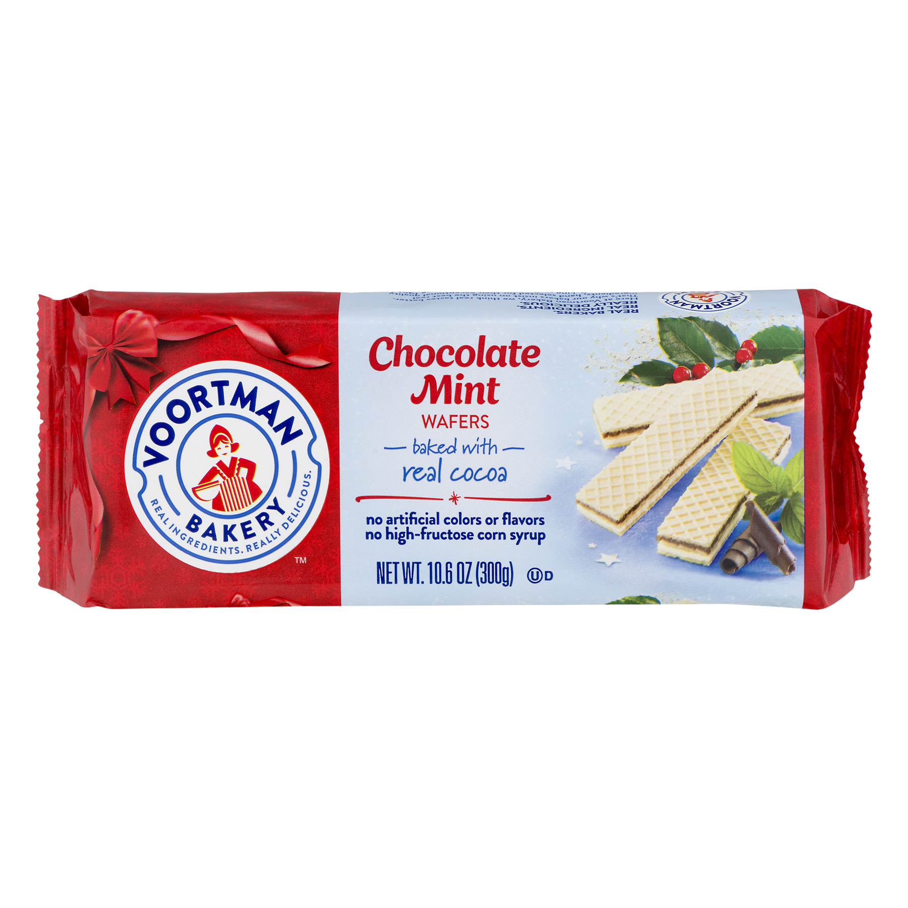 Voortman Chocolate Mint Real Cocoa Wafers, 10.6 Oz.