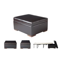SpaceMaster iBED™ Convertible Ottoman Guest Bed in Dark Espresso Color