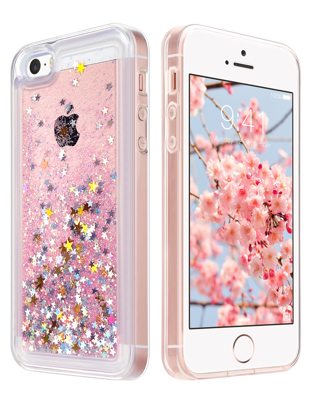 Clear Unicorn Glitter iPhone Case for