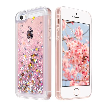 buy online aa631 a1063 iPhone SE Case,iPhone 5S Case, ULAK Flowing Liquid quicksand Clear SE Case  PC Hard Plastic Shell 3D Bling Sparkle Glitter Drift Sand Transparent Cover  ...