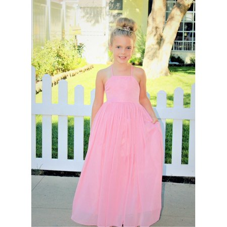 Ekidsbridal Criss-Cross Chiffon Flower Girl Dress Pageant Dresses Ballroom Gown Princess Dresses Evening Gown Junior Bridesmaid Dress Special Occasion Dresses Easter Summer Dresses Daily Dresses 191