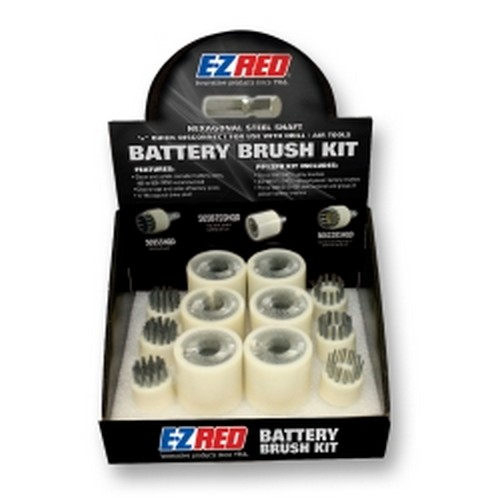 EZ Red PP12PK 12 Piece Quick Disconnect Battery Brush Kit