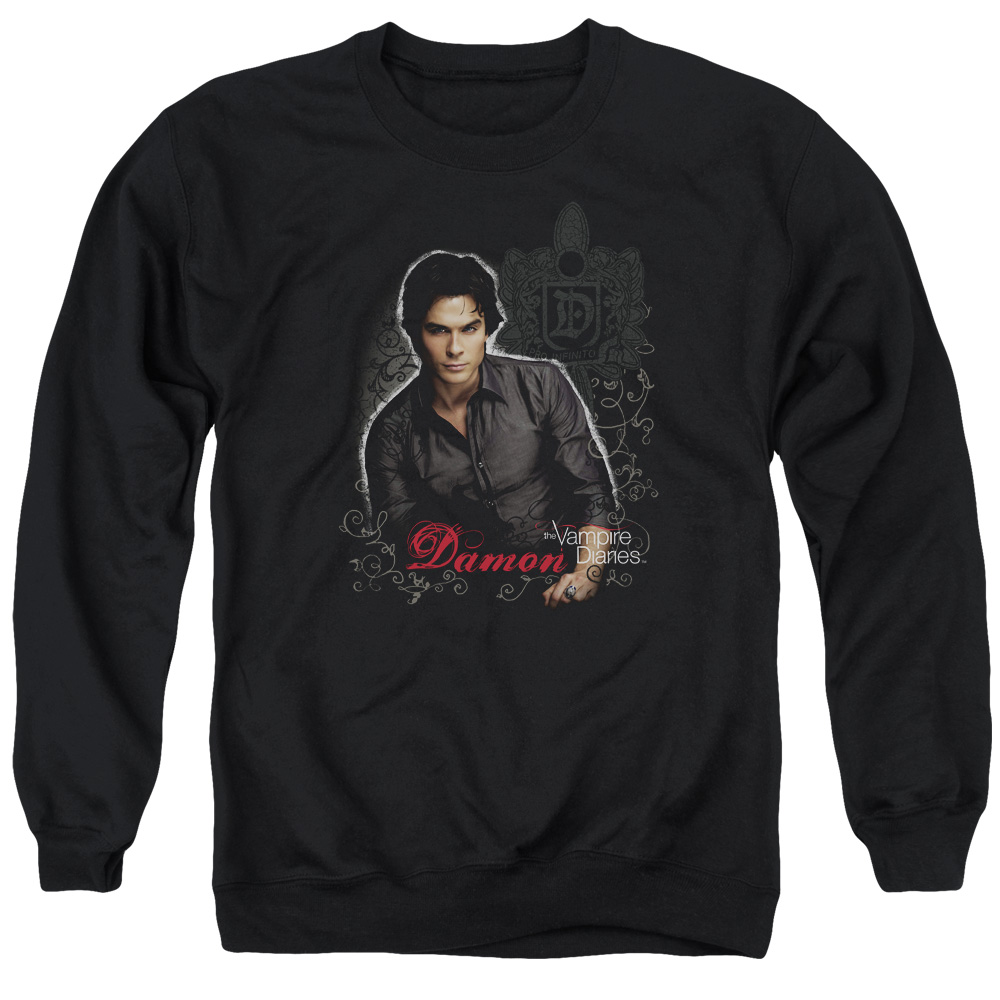 Vampire Diaries Damon Mens Crewneck Sweatshirt
