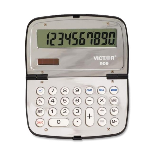 Victor Technologies 909 909 Handheld Compact Calculator, 10-Digit LCD