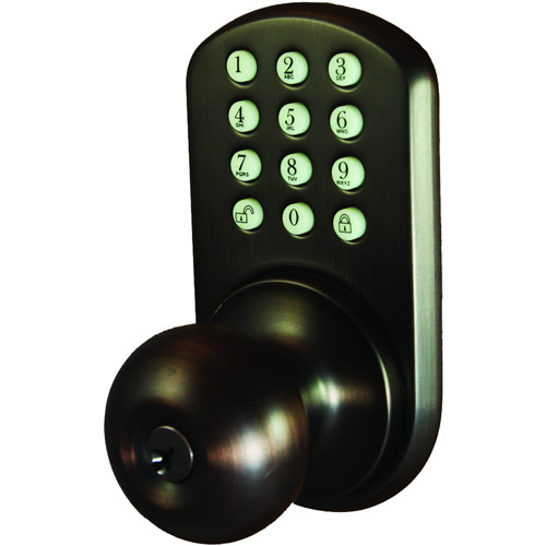 Morning Industry Inc HKK-01OB Touchpad Electronic Door Knob, Oil Rubbed Bronze
