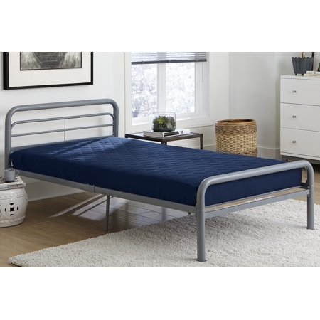DHP Value 6 Inch Polyester Filled Quilted Top Bunk Bed Mattress, Twin, Navy