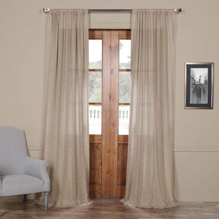 Exclusive Fabrics  Faux Linen Sheer Curtain Panel Linen Drapery Fabric