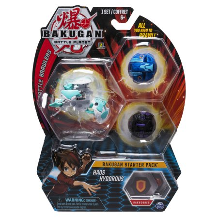 Bakugan Starter Pack 3-Pack, Haos Hydorous, Collectible Action Figures, for Ages 6 and Up
